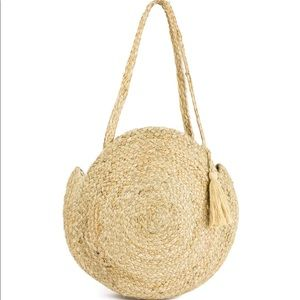 MAGID Round Braided Bag with Tassel Accent